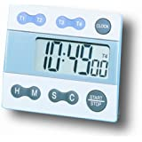 General Tools & Instruments TI388 Digital Timer, Four Channel with Clock