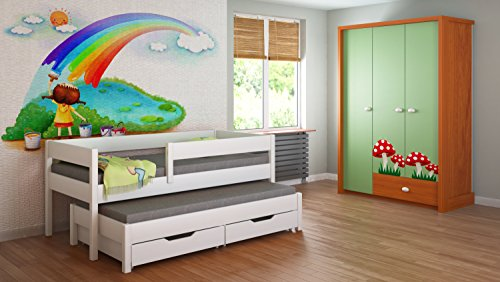 kinderbett 90x200 weiss storeamore. Black Bedroom Furniture Sets. Home Design Ideas