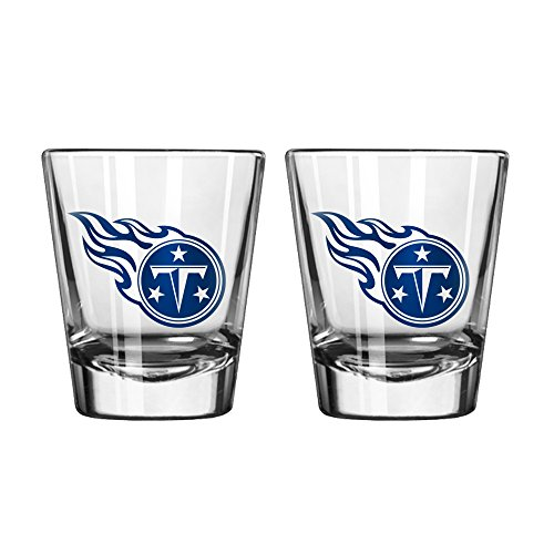 NFL Tennessee Titans Game Day Shot Glass, 2-ounce, 2-Pack