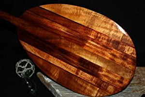 Premium Curly Outrigger Koa Paddle 60 - Stringers Surf Classic by TikiMaster