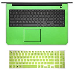 BingoBuy 2-in-1 High Quality Customized Free Cut Full Wrist Palm Rest Palmrest Area Guard Shield Cover With Touchpad Trackpad Protector + Ultra Thin US Layout Keyboard Skin for 15.6\