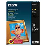Epson Glossy Photo Paper, 8.5 x 11 Inches, 50 Sheets per Pack...