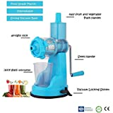 Gambit Fruit & Vegetable Hand Juicer Mixer Grinder With Suction Base, Sky Blue