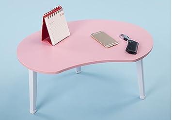 uzi-lazy persone benessere Fashion Angolo Scrivania per PC portatile, Dormitorio, impermeabile tavolo piccolo tavolo pieghevole di Lazybones, multifunzionale stabile Pink