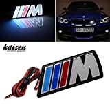 Kaizen ///M Power LED Illumine Front Emblem Front Grille Badge For BMW X1 X3 X5 X6 M3 M5 E46 E39 E36 E60 E34 E90 E65 E70 E53 E87 Universal Waterproof And PMMA Engineering Plastic Finish