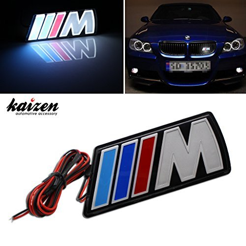 Kaizen ///M Power LED Illumine Front Emblem Front Grille Badge For BMW X1 X3 X5 X6 M3 M5 E46 E39 E36 E60 E34 E90 E65 E70 E53 E87 Universal Waterproof And PMMA Engineering Plastic Finish (M5 Grill Emblem compare prices)