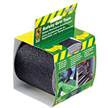 Incom RE3952 Black Gator Grip Anti Slip Safety Grit Tape, 4-Inch by 15-Foot
