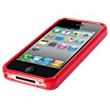High Gloss Red Hydro XYLO-GEL Back Cover Skin Case for the Apple iPhone 4 / 4G.