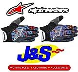 ALPINESTARS YOUTH CHARGER MX GLOVES MOTOCROSS GLOVE BMX OFF-ROAD MOTO-X KIDS CHILDRENS GLOVE J&S (KIDS SMALL, ORANGE/BLUE/BLACK)