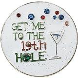 Navika 19th Hole Glitzy Ball Marker with Swarovski Crystal and Hat Clip