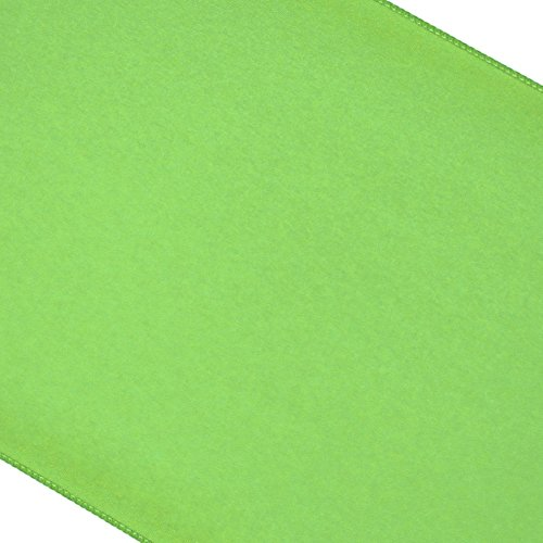 Koyal Polyester Table Runner, 12-Inch X 108-Inch, Kiwi Green front-642343