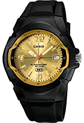 Casio Mw600f-9a Mens Hd Analog Sports Watch Gold Dial - 10 Year Battery - 100m