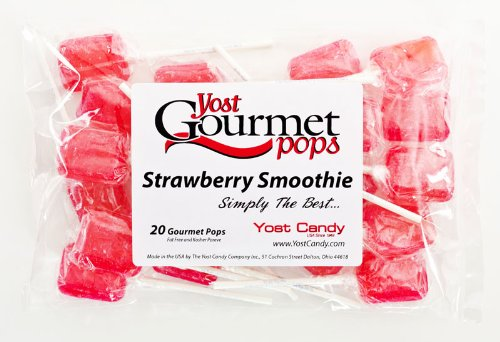 Yost Gourmet Pops, 20 Count Bag - Strawberry Smoothie