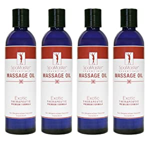 Master Massage Exotic Massage Oil, 8 oz. Pack of 4
