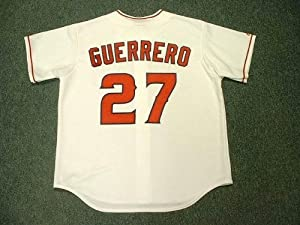 VLADIMIR GUERRERO Los Angeles Angels Majestic Home Baseball Jersey, MEDIUM