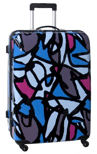 ed-heck-luggage-scribbles-25-inch-hardside-spinner-blue-one-size