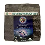 Earth Circle Organics - Raw, Organic, Kosher - Nori Seaweed, 50 Sheet Bag