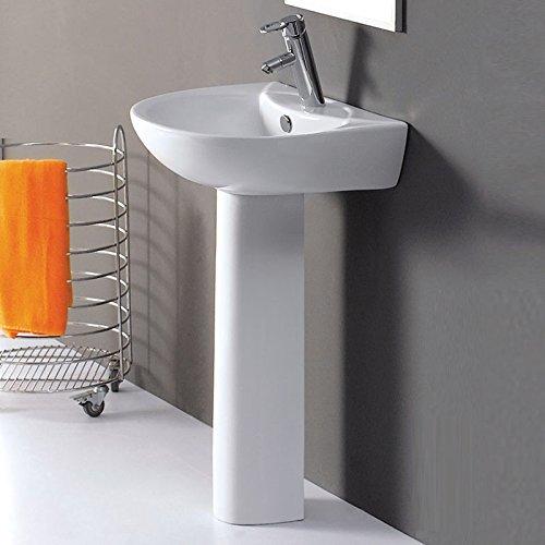 Perfect Stafford Galaxy White Ceramic Modern Bathroom Sink Wash Basin u Pedestal Tap Hole