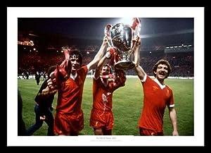 Liverpool Fc 3 Legends 1978 European Cup Final Photo Memorabilia