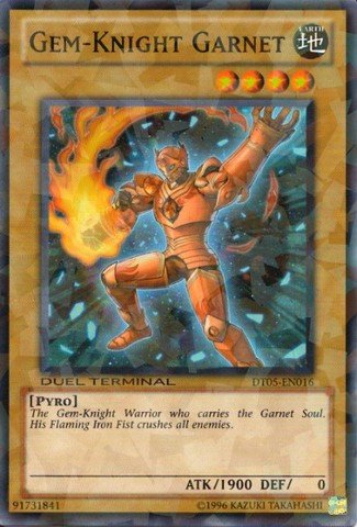 Yu-Gi-Oh! - Gem-Knight Garnet (DT05-EN016) - Duel Terminal 5 - 1st Edition - Common (Gem Knights compare prices)