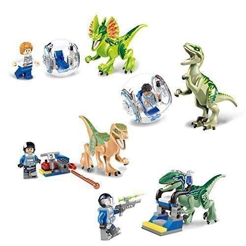 Jurassic World Dilophosaurus, Blue Velociraptor, Echo Velociraptor, Charlie Velociraptor Gray Velociraptor,simon Masrani ,Acu Mini Figures Character