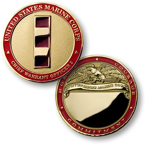 U.S. Marines Chief Warrant Officer 2 - Engravable Challenge Coin