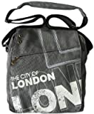Robin Ruth The City of LONDON Grey White Canvas Shoulder Bag