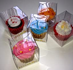 1 X Set of Two_Cupcake Theme Candles by Greenbriar Int.