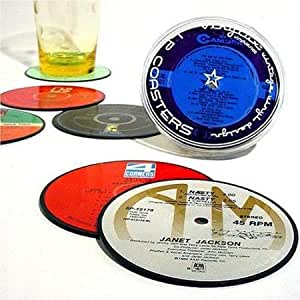 Vintage Record Coasters - Upcycled Vintage Vinyl LP Records - Set of 6 Coasters By Vinylux