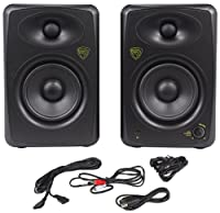"Rockville ASM5 5"" 2-Way 200 Watts Peak/100 Watts RMS Active/Powered Pair of Pro Studio Monitors With Dual Class ""D"" Amp In Each Speaker, USB Input, and Neo Magnet Silk Soft Dome Tweeters"