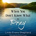 When You Don't Know What to Pray Audiobook by Linda Evans Shepherd Narrated by Anna Crowe