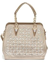 Lavu&me Women's Handbag (golden, LE032a)