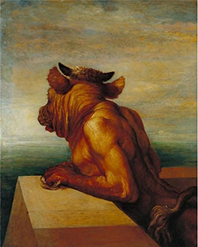 The Perfect Effect Canvas Of Oil Painting 'George Frederic Watts - The Minotaur,1885' ,size: 8x10 Inch / 20x25 Cm ,this Replica Art DecorativePrints On Canvas Is Fit For Study Decor And Home Decor And Gifts (Target Faux Leather Jackets compare prices)