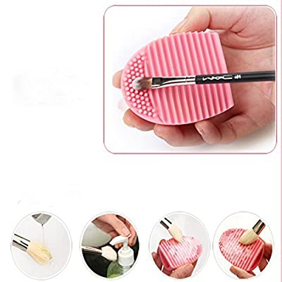 Bessky Cleaning Glove MakeUp Washing Brush Scrubber Board Cosmetic Clean PK