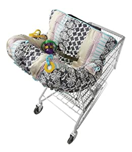 Infantino Plenty Feature Packed Cart and Highchair Cover, Mosaic Stripe