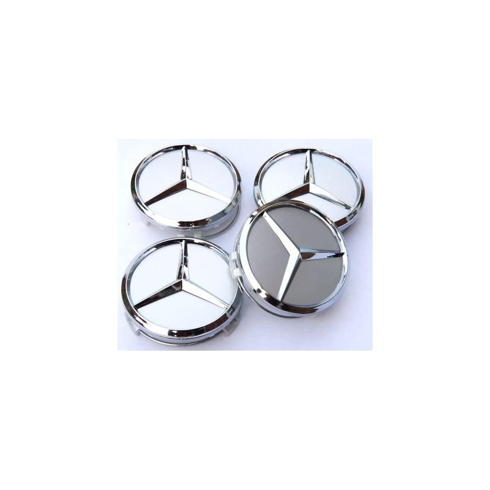 4st 60mm Mercedes Benz Blue Alloy Wheel Centre Caps Hub Cover Badges