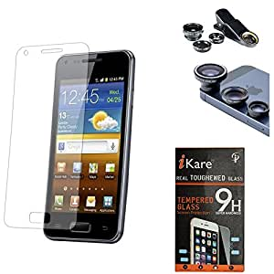 iKare Pack of 8 Tempered Glass for YU Yureka Plus + 3in1 Fisheye Wide Angle and Macro Lens