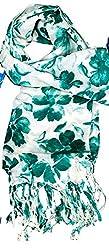 ST-Fashion Women Silk STOLE (STFPTPV02_Green_Green_35)