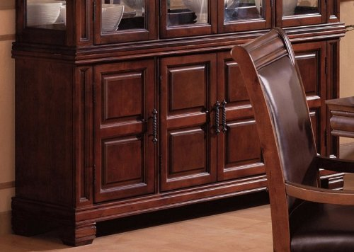 Cheap Sideboard Old West Style Dark Brown Finish (VF_3638B2)