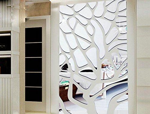 Masala 3d Spiegel Wand Aufkleber Packung Mit 51 Stuck Silber