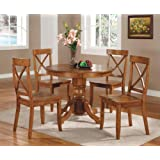 Home Styles 5179-318 5-Piece Dining Set, Cottage Oak Finish