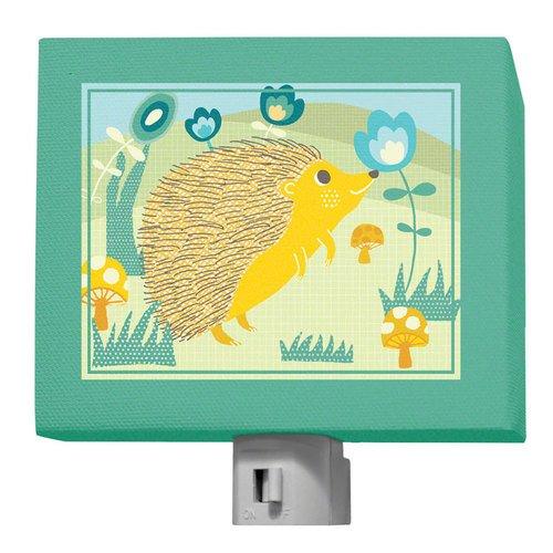 """Oopsy Daisy A Through Z Animals Hedgehog Night Light, Green, 5"""" x 4"""""""
