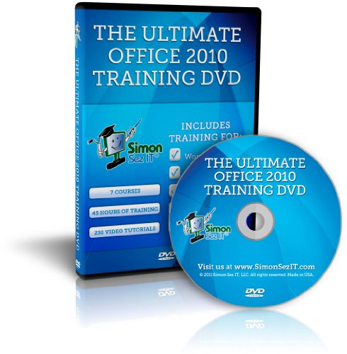 The Ultimate Microsoft Office 2010 Training DVD - 45 Hours of Video Training Tutorials