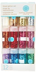 Martha Stewart Crafts Tinsel Glitter Set, 12-Pack