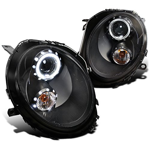 Spec-D Tuning 2LHP-MINI06JM-TM Mini Cooper S / Base Black Halo Projector Headlights (Mini Cooper Tuning compare prices)