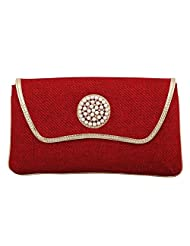 Craftstages Ethnic Designer Jute Sling Bag For Women (Material: Jute, Colour: Red) - B00VREY45K