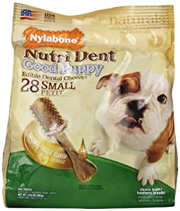 Nylabone Nutri Dent Good Puppy, Bacon and Cheese Flavor, 28 Count Pouch