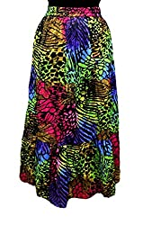 Cotton Breeze Womens Long Skirt (FP362_Multi-Coloured_Free Size)