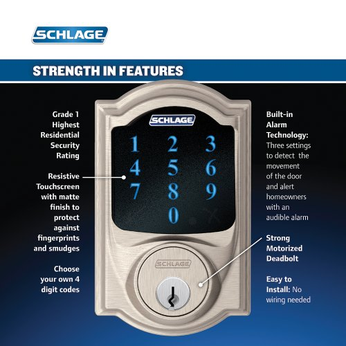 Schlage Connect Be469nx Cam 619 Touchscreen Deadbolt With