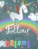 Cute Unicorn Rainbow 2016 Monthly Planner